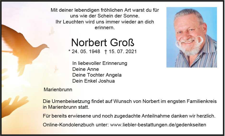 Traueranzeige von  Norbert Groß